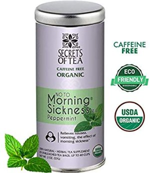Amazon.com : Morning Sickness Relief Pregnancy Tea -Organic Peppermint - Morning Sickness Relief, Cramps, Nausea, Constipation and All Pregnancy discomfort -Can be Served Hot or Cold -Up to 60 Cups- No Caffeine : Baby