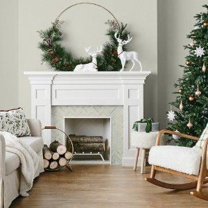 Wreath Gold Wire with Red Berry Pine - Threshold™ : Target