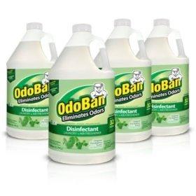 OdoBan 除臭和消毒浓缩液4瓶,桉树味