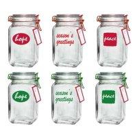 Mainstays 密封玻璃罐6个