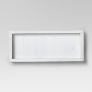Small Rectangle Serving Tray Marble White - Threshold™ : Target