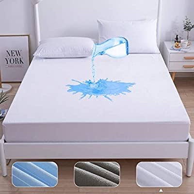 Agedate Queen 防水纯棉混纺防水床垫保护罩