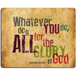 """$2.7哥林多前书 10:31 基督教圣经经文鼠标垫 9.84"""" X 7.87"""""""
