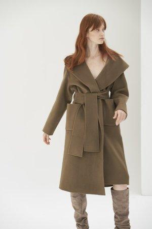 QUAINT ICONIC Lara Wool-Cashmere Coat - Olive