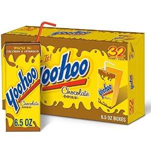 $8.98 每瓶$0.28Mott's Yoo Hoo 巧克力口味饮料 6.5oz 32瓶 折扣促销