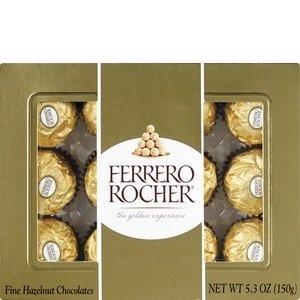 12颗装$5.79+第2件5折Ferrero Rocher 榛仁巧克力球限时特卖