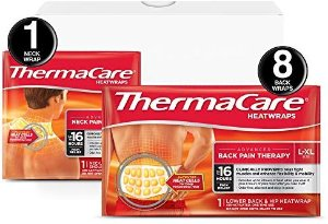 Amazon.com: ThermaCare Advanced Back Pain (L-XL Size) and Neck Pain Combo Pack (8 Back Wraps, 1 Neck Wrap) Heatwraps, Up to 16 Hours of Pain Relief, Lower Back & Hip Use, Neck & Wrist & Shoulder Use: Gateway