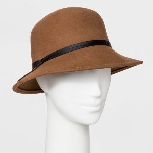 Women's Felt Cloche Hat - A New Day™ Camel One Size : Target