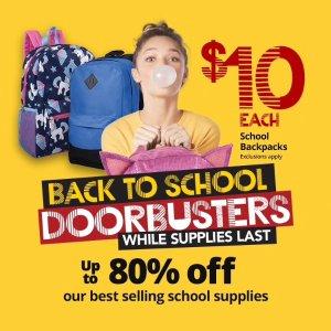 一律$10 原价$19.99-$29.99Office Depot 返校季多款背包特价 背包6件套也是$10