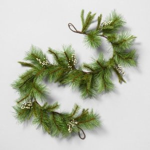 Garland Pine with White Berry - Hearth & Hand™ with Magnolia : Target