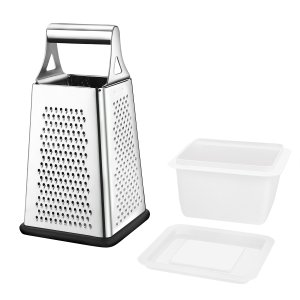 Stainless Steel Box Grater w/ Storage Container | ToBox