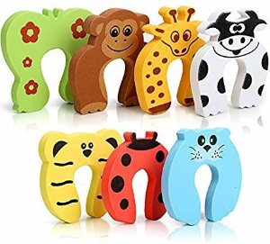 Amazon.com : 7Pcs Finger Pinch Guard, HNYYZL Cartoon Animal Door Stop Soft Foam Cushion Baby Finger Protector, Prevent Finger Pinch Injuries, Slamming Door, and Child or Pet from Getting Locked in Room : Baby