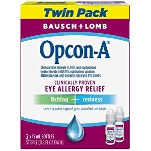 Bausch & Lomb 抗过敏眼药水15mL 2瓶