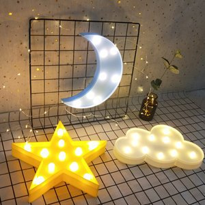 Decorative LED Crescent Moon Cloud Star Night Lights for Kids Girls and Adults, Nursery Night Lamp Gift for Children Baby Room Party Holiday Decorations (Blue Moon-Yellow Star-White Cloud) - - Amazon.com