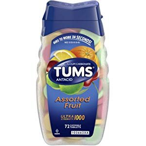Amazon.com: TUMS Antacid Chewable Tablets, Extra Strength for Heartburn Relief, Assorted Fruit, 96 count: Prime Pantry