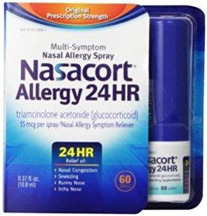 Amazon.com: Nasacort Allergy 24hr Non-Drip Nasal Spray (120 sprays, 3 pk.): Health & Personal Care