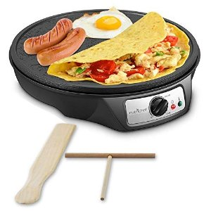 Amazon.com: Crepe Maker Machine Pancake Griddle - Nonstick 12