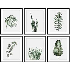 Bestbuddy Pet Set of 6 (8X10) Unframed Botanical Prints