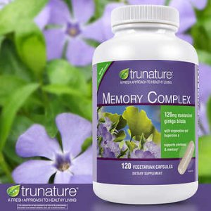 trunature Memory Complex with Ginkgo Biloba, 120 Vegetarian Capsules