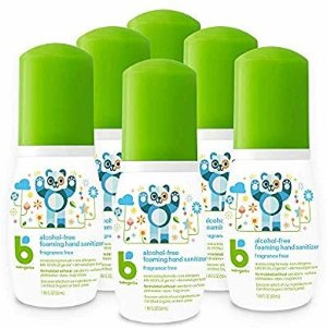 Amazon.com: Babyganics Alcohol-Free Foaming Hand Sanitizer, On-The-Go, Fragrance Free, 1.69 oz, 6 Pack, Packaging May Vary: Health & Personal Care