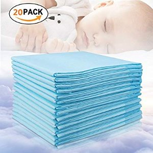 Amazon.com : Baby Disposable Changing Pad, 20Pack Soft Waterproof Mat, Portable Diaper Changing Table & Mat, Leak-Proof Breathable Underpads Mattress Play Pad Sheet Protector(13'' 18'') : Baby