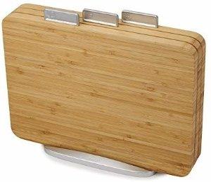 Amazon.com: Joseph Joseph 60141 Index Bamboo Cutting Board Set of 3 Boards with Storage Stand Non-Slip: Kitchen & Dining