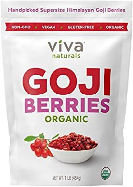 Viva Naturals Organic Dried Goji Berries, 1lb - Premium Himalayan Berries Perfect for Baking, Teas, Trail Mixes and More: Amazon.com: Grocery & Gourmet Food