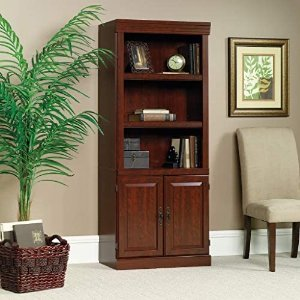 Sauder Heritage Hill Library With Doors Classic Cherry finish