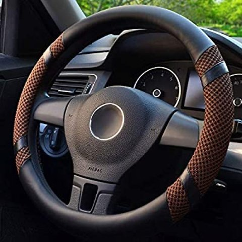 $14.99BOKIN Steering Wheel Cover Microfiber Leather and Viscose