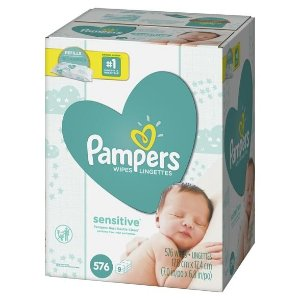 Pampers 9pk Sensitive Baby Wipes Refill - 576ct : Target