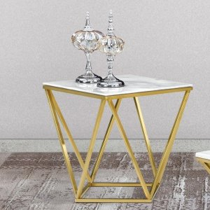 Willa Arlo Interiors Robeson Marble End Table & Reviews | Wayfair
