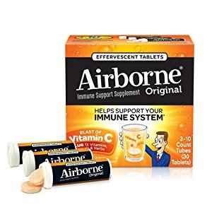 Amazon.com: Airborne Zesty Orange Effervescent Tablets, 30 count - 1000mg of Vitamin C - Immune Support Supplement: Health & Personal Care