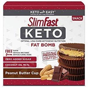 $9.97 减肥必入SlimFast 低碳水无糖花生酱巧克力饼干 14个