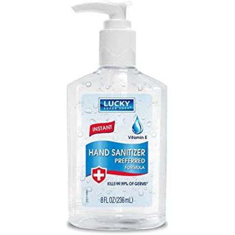$1.49Lucky Super Soft Hand Sanitizer, Clear, 8 Fluid Ounce