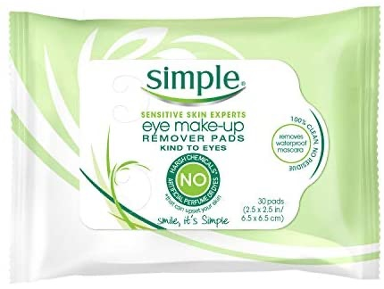Simple Eye Makeup Remover Pads, 30 ct : 眼唇卸
