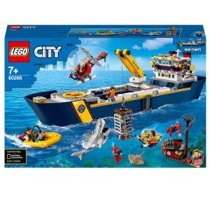 $115.99+包邮 含745颗粒LEGO 城市组 海洋探索船 60266,北美9月才上市 直降$35