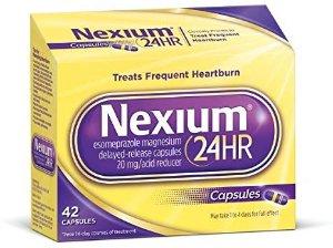 Amazon.com: Nexium 24HR (20mg, 42 Count) Delayed Release Heartburn Relief Capsules, Esomeprazole Magnesium Acid Reducer: Health & Personal Care