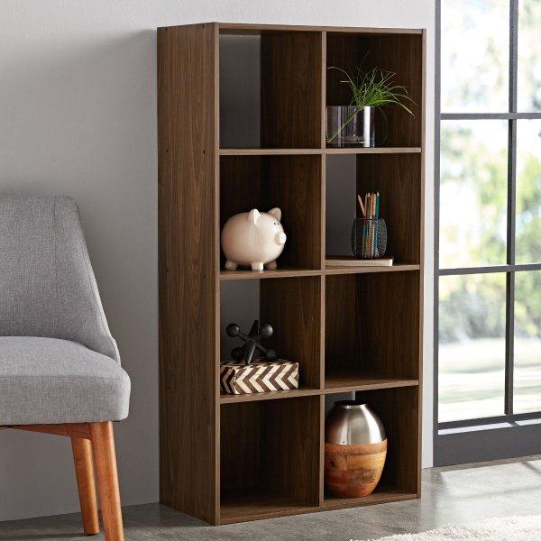 Mainstays 8格木质收纳柜子