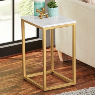 Mainstays 金色大理石边桌