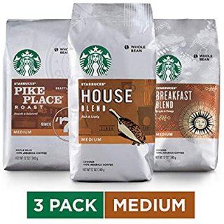 $17.59Starbucks Medium Roast Whole Bean Coffee Variety Pack, Three 12-oz. Bags