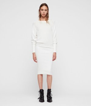 ALLSAINTS UK: Womens Suzie Dress (ivory_white)