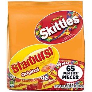 $7.74 一包仅$0.11彩虹糖和 Starburst 万圣节混合糖果 65包