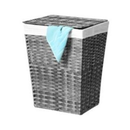Member's Mark Woven Lidded Laundry Hamper with Canvas Liner (Grey/Brown) - Sam's Club