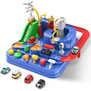 EHO Montessori Slot Car Toy for Toddlers