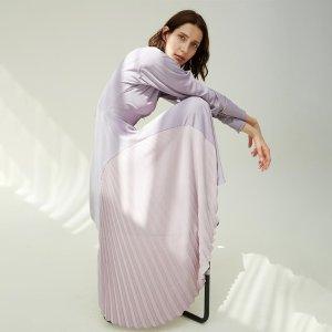 Autumn new French elegant purple dress – simpleretro
