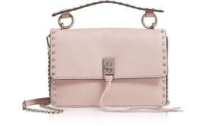Rebecca Minkoff Vintage Pink Leather Darren Top Handle Flap Crossbody at FORZIERI