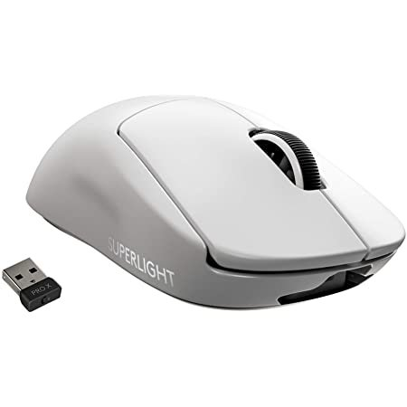 Logitech G PRO X SUPERLIGHT 无线鼠标 白色 仅重63g
