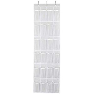Amazon.com: 24 Pockets - SimpleHouseware Crystal Clear Over The Door Hanging Shoe Organizer, Gray (64'' x 19''): Gateway