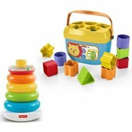 Amazon.com: Fisher-Price Rock-a-Stack & Baby's First Blocks Bundle (Amazon Exclusive): Toys & Games