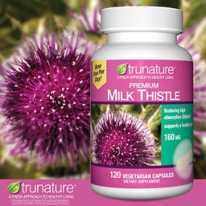 trunature Premium Milk Thistle 160 mg., 120 Vegetarian Capsules